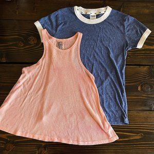 PINK AND FREE PEOPLE T-SHIRT LOT SZ XS